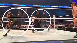 Fans Rush Ring at WWE SmackDown
