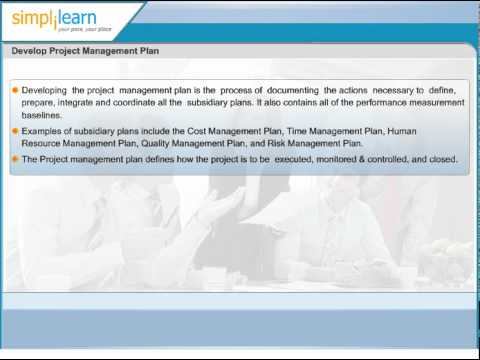 Develop Project Management Plan | Project Integration Management | PMP Certification Training Online