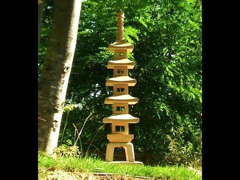 Making a concrete pagoda lantern limestone look