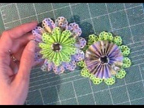 How to make Paper Rosette Flowers (Timesaver: make TWO at the same time!)
