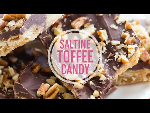 Saltine Toffee Candy with Pecans