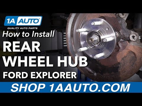 How to Install Rear Wheel Bearing Hub 11-16 Ford Explorer
