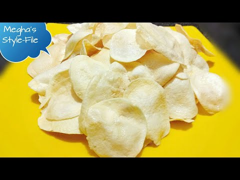 Watch IPL with this/Potato chips recipe/ Sun dried Aloo chips/ Aloo chips/ hindi/ Megha's Style-File