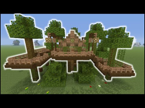 Minecraft Tutorial: How To Make A Jungle Tree House (Biome House)
