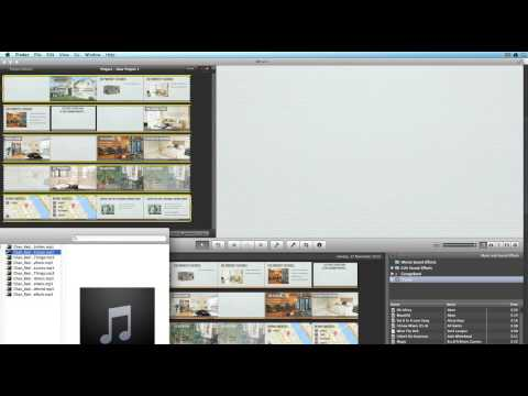 How To Add Background Music To A Video Using iMovie '11
