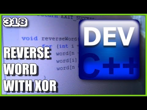 C++ How to reverse char array using bitwise XOR
