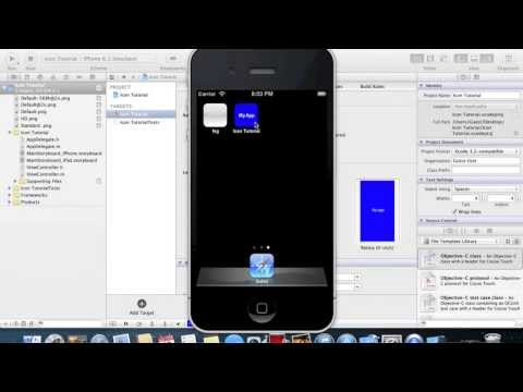 Xcode 4.6 Tutorial | How to apply app icon and launch image