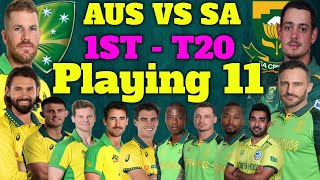 Australia Vs South Africa 1ST T20 Playing 11 - Australia Vs South Africa T20 Squad | Cricket Squad