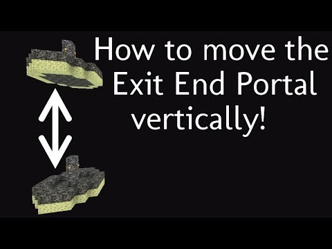 How to move the Exit End Portal up or down. 1.12-1.9+ Vanilla Survival   Ray's Works