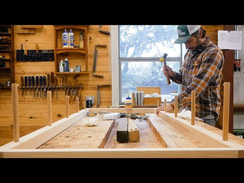 Making A Simple Ladder Shelf From Hickory