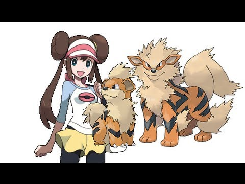 Pokemon Black2/White2- Growlithe Evolving into Arcanine