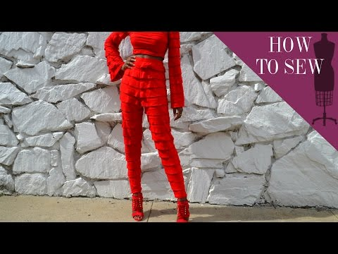 How To Sew A High Waist Ruffle Tapered Pants