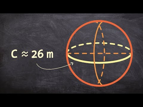 Find the volume of a sphere given the circumference