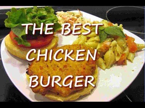 Healthy Ground CHICKEN BURGER Recipe ~ THE BEST Chicken Burger