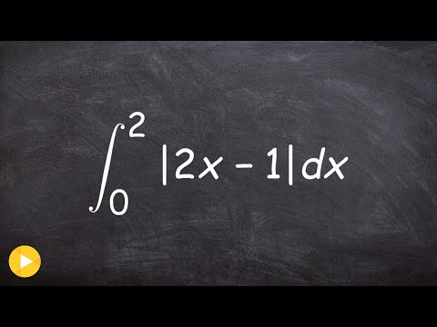 Calc unit 5   How to evaluate the definite integral with absolute value
