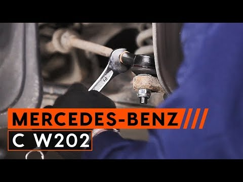 How to replace track rod end MERCEDES-BENZ C W202 [TUTORIAL AUTODOC]