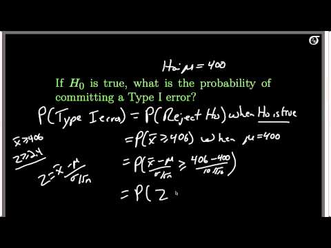 Calculating Power and P(Type II error) (A One-Tailed Z Test Example)