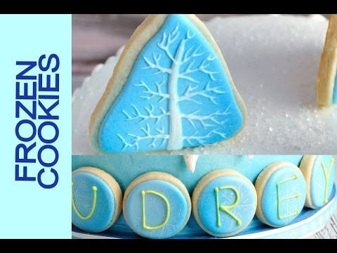 HOW TO DECORATE FROZEN COOKIES WITH ROYAL ICING