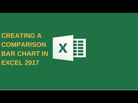 How to create a comparison Bar Chart in Excel 2017
