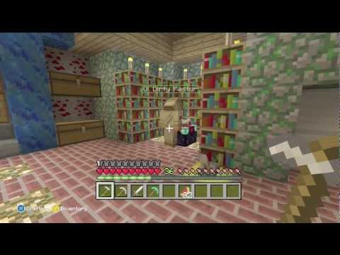 Minecraft Xbox 360: Surviving Hard Mode Ep. 6 Enchanting