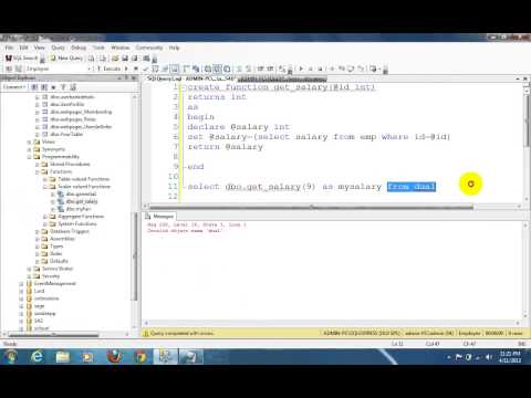 User defined functions in sql server 2008 R2