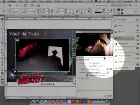 Add navigation points to video with InDesign CS5