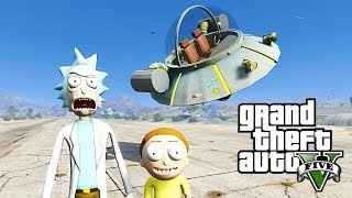 RICK AND MORTY GTA 5 MOD - SAVING MR. POOPYBUTTHOLE Episode 1 SPACE TRAVEL!!!