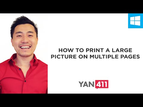 How to Print a Large Picture on Multiple Pages