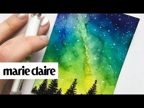 We Can't Stop Watching This Watercolor Night Sky Painter | Marie Claire