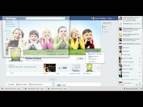 How to change Facebook profile or page cover