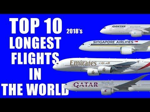 Top 10 Longest Flights in the World 2018