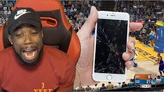 MAKING A TRASH TALKER THROW & CRACK HIS PHONE FROM RAGE! NBA 2K17 MyTeam