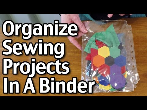 Organize Sewing Projects In A Binder