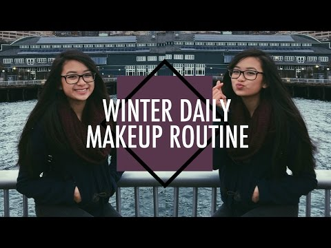 ❄︎ Winter Daily Makeup Routine 2016!   Kim Ha (: