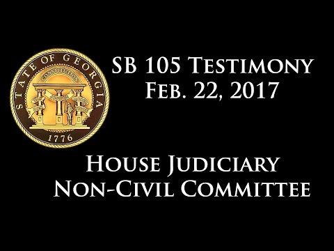 First hearing on SB 105 to De-felonize Marijuana Possesion - February 22, 2017