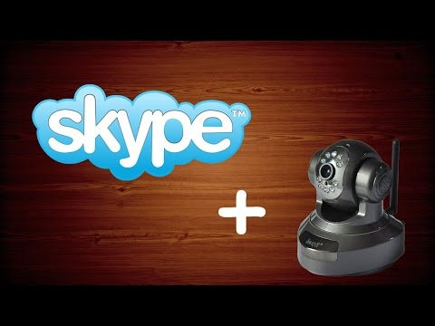 Подключение IP камеры к скайпу / how to use ip camera for skype
