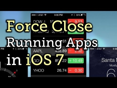 Completely Close Running Applications on the New iPhone iOS 7 [How-To]