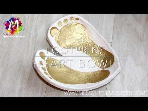 DIY CLAY FOOTPRINT BOWL - keepsake baby or toddler craft