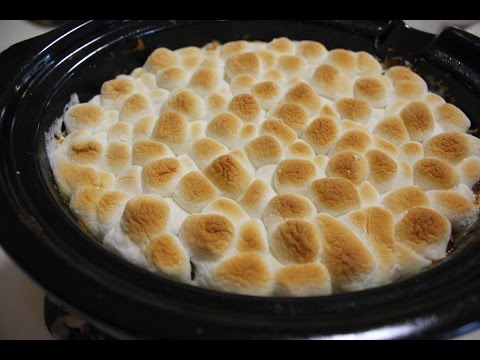 Slow Cooker Crockpot Sweet Potato Casserole With Marshmallows