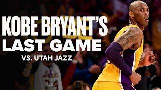 Look Back At Kobe Bryant's Last Game vs. Utah Jazz | April 13, 2016