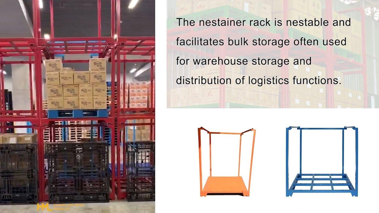 Nestainer stackable storage racks   HML