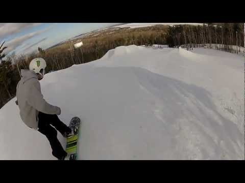 Big Snowboard Jump Line! Spirit Mountain, Duluth