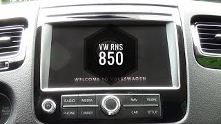 How to enter hidden menu in VW Touareg RNS-850 system (VCDS