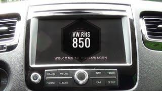 Volkswagen Touareg RNS 850 green menu | Music Jinni