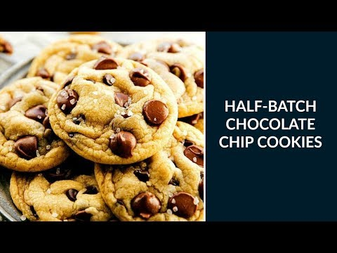 Easiest Half-Batch Chocolate Chip Cookies (One Bowl, No Mixer Required)