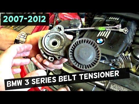 BMW E90 E92 E93 SERPENTINE BELT TENSIONER REPLACEMENT 2006 2007 2008 2009 2010 2011 2012