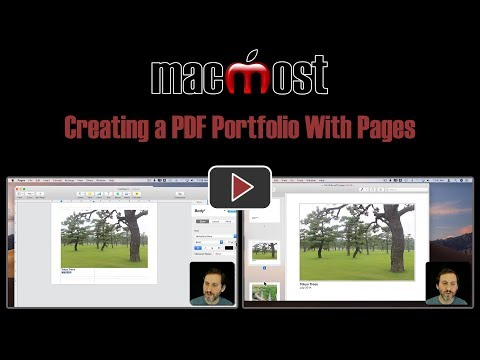 Creating a PDF Portfolio With Pages (MacMost #1829)