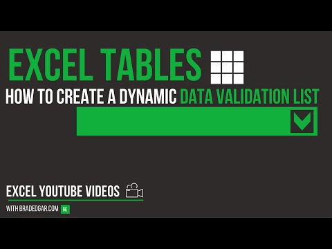 Excel Tables: How to Create a Dynamic Data Validation Drop Down with Excel Tables and a Name Range