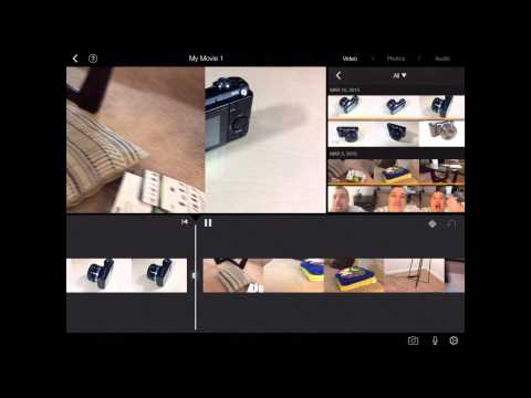 iMovie for iPad Tutorial 2015 - Adding Transitions and Splitting Video Clips