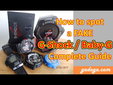 How to spot a Fake G-Shock / Baby-G - Complete Guide